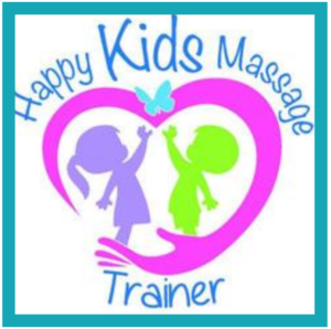 Happy kids massage logo
